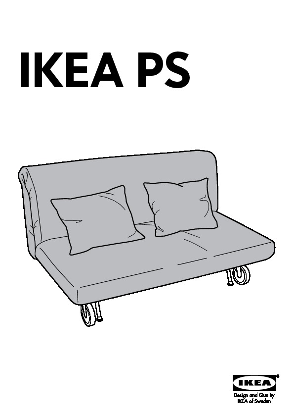 Ikea ps housse causeuse lit rute noir blanc ikea canada for Housse causeuse