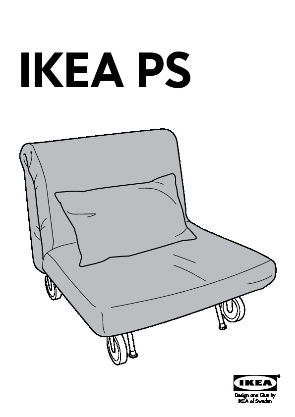 ikea ps l v s chauffeuse convertible rute noir ikea france ikeapedia. Black Bedroom Furniture Sets. Home Design Ideas