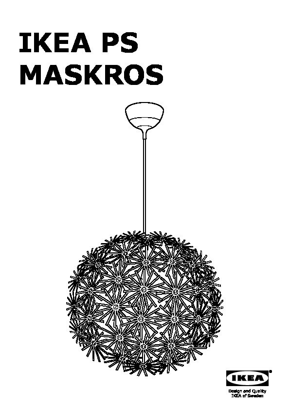 Ikea ps maskros suspension with suspension maskros for Suspension cuisine ikea