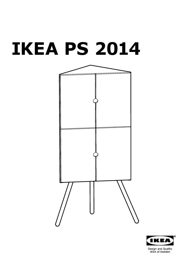 ikea ps 2014 meuble d 39 angle blanc gris ikea france ikeapedia. Black Bedroom Furniture Sets. Home Design Ideas