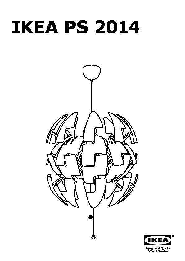 00304916 ikea ps 2014 assembly instruction - Ikea Lampe Ps 2014