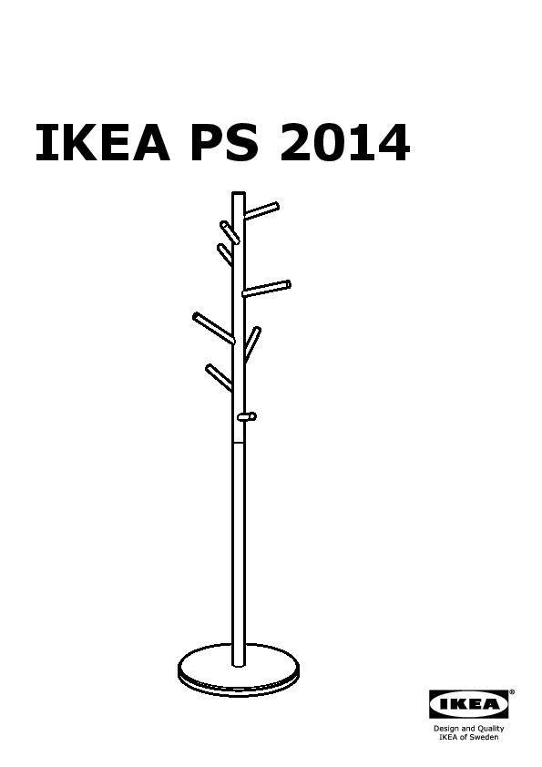 Ikea Ps 2014 Portemanteau Bouleau Blanc Ikea France