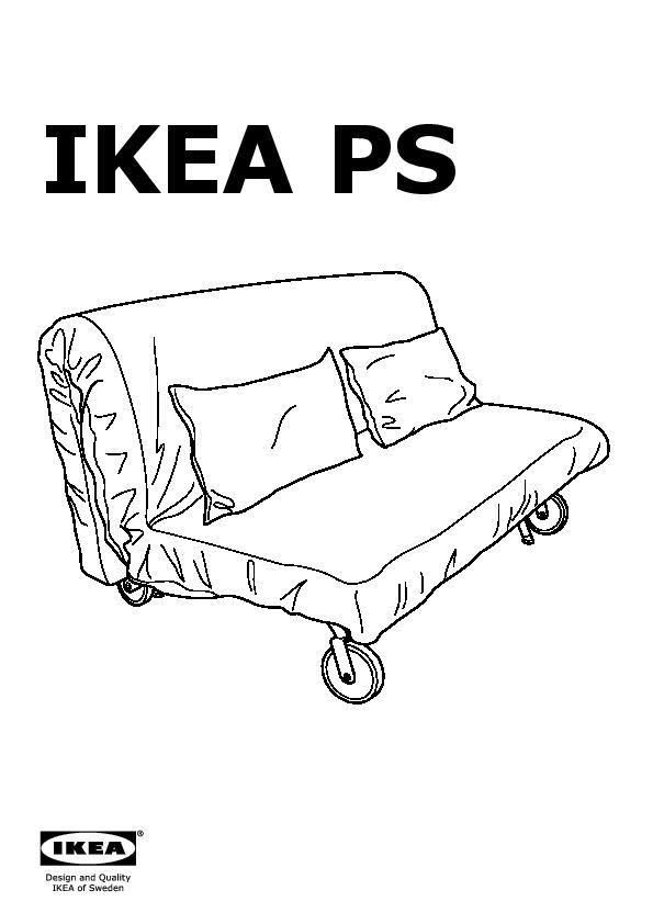 Ikea Ps Lovas Divano Letto.Ikea Ps Lovas Sofa Bed Vansta Dark Blue Ikea United States