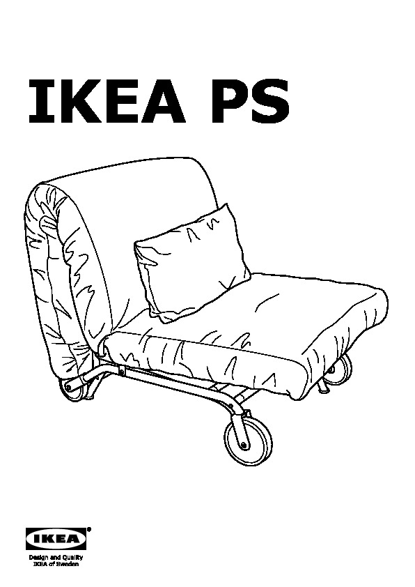 ikea ps murbo chauffeuse convertible vansta rouge ikea. Black Bedroom Furniture Sets. Home Design Ideas