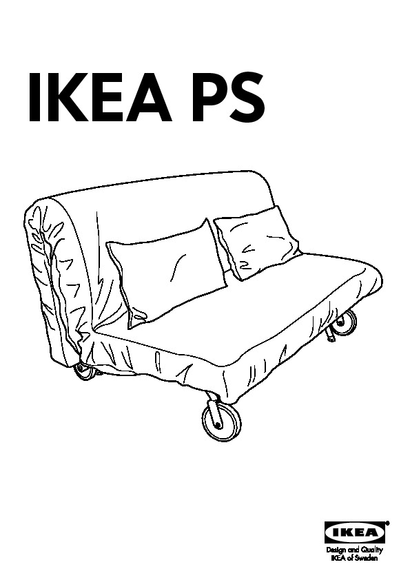 Divano Letto Ps Ikea.Ikea Ps Lovas Divano Letto A 2 Posti Grasbo Bianco Ikea