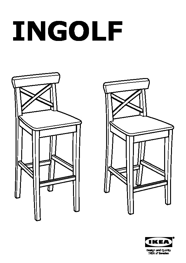 Ingolf Bar Stool With Backrest White Ikea United States