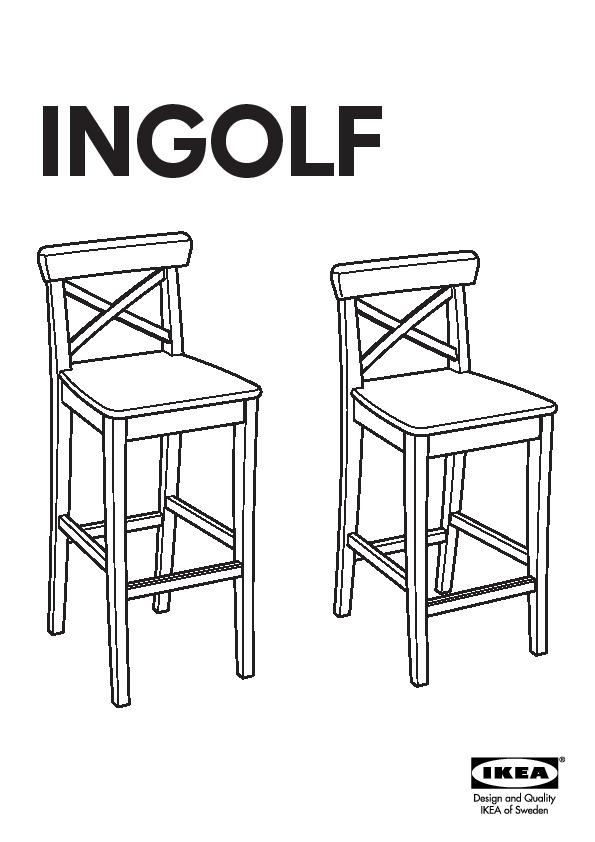 Ingolf Tabouret Bar Dossier Blanc Ikea Canada French Ikeapedia