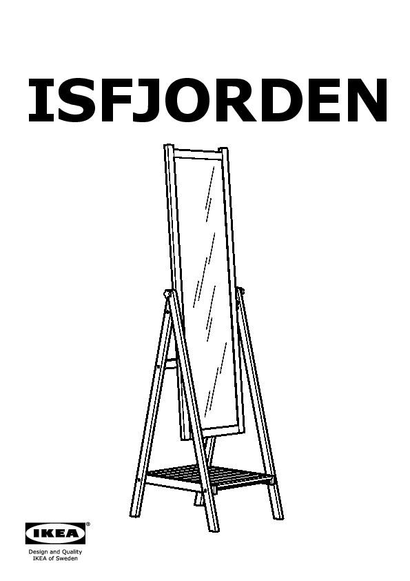 Isfjorden miroir teint blanc ikea france ikeapedia for Ikea miroir sur pied