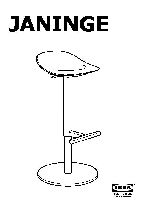 Janinge Bar Stool White Ikea United States Ikeapedia