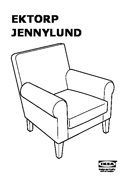 ektorp jennylund fauteuil norraby bleu carreaux ikea. Black Bedroom Furniture Sets. Home Design Ideas