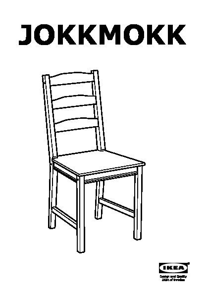 JOKKMOKK Table et 4 chaises vernis effet anc (IKEA France