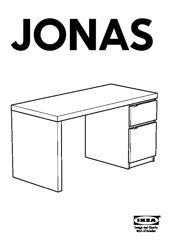 jonas bureau brun noir ikea france ikeapedia. Black Bedroom Furniture Sets. Home Design Ideas