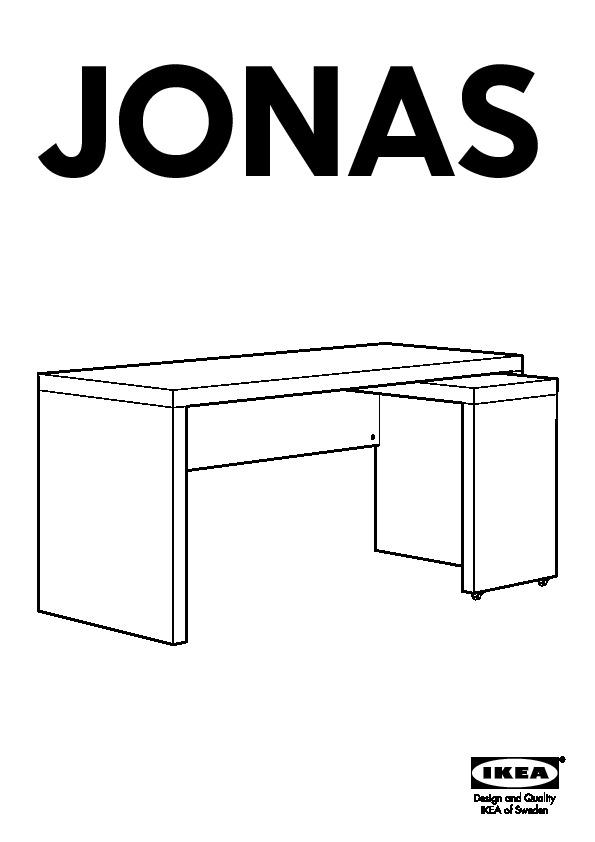 JONAS Bureau avec tablette coulissante blanc IKEA France IKEAPEDIA