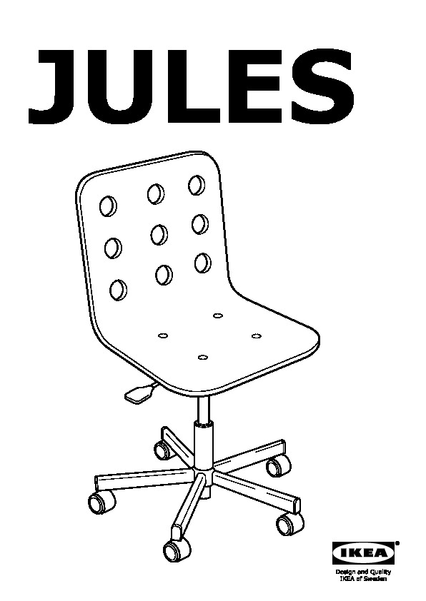 Jules sedia da scrivania bianco color argento ikea italy for Chaise junior