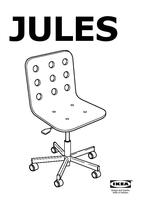 jules junior chaise de bureau blanc, couleur argent (ikea france ... - Chaise Bureau Enfant Ikea