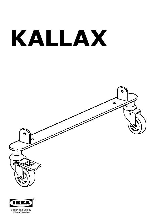KALLAX Set of castors silver-colour (IKEA United Kingdom) - IKEAPEDIA