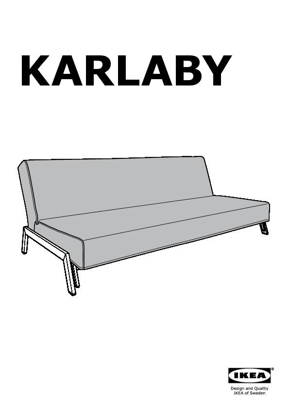 Karlaby karlskoga divano letto a 3 posti isunda grigio - Fodera divano letto ...
