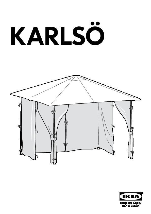 KARLSO Gazebo With Curtains White IKEA United Kingdom