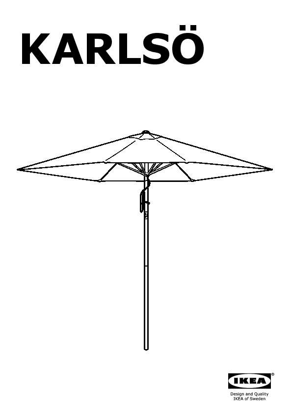 karls l k parasol avec pied inclinable noir gris ikea france ikeapedia. Black Bedroom Furniture Sets. Home Design Ideas