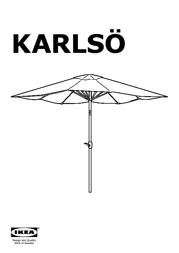 karls umbrella adjustable assorted colors ikea united states ikeapedia. Black Bedroom Furniture Sets. Home Design Ideas