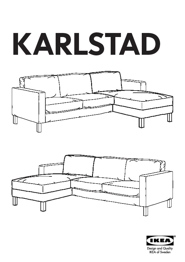 Karlstad two seat sofa and chaise longue blomsterm la for Chaise longue frame