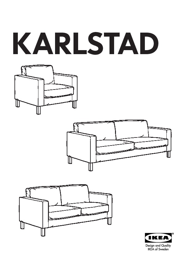 KARLSTAD structure canapé 3 places (IKEA France)  IKEAPEDIA
