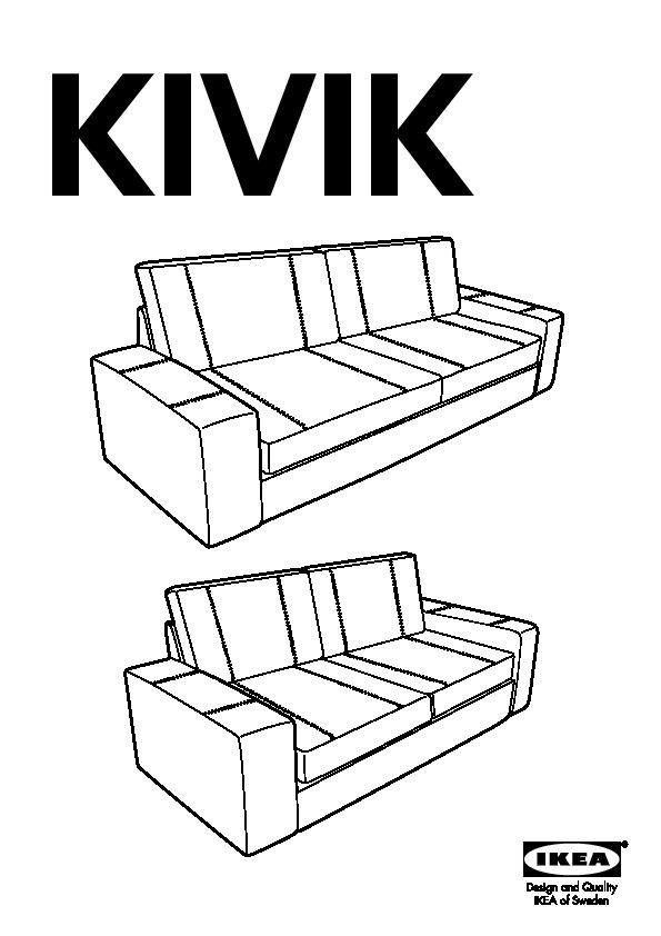 Kivik divano a u 9 posti grann bomstad bianco ikea italy for Kivik 2 posti