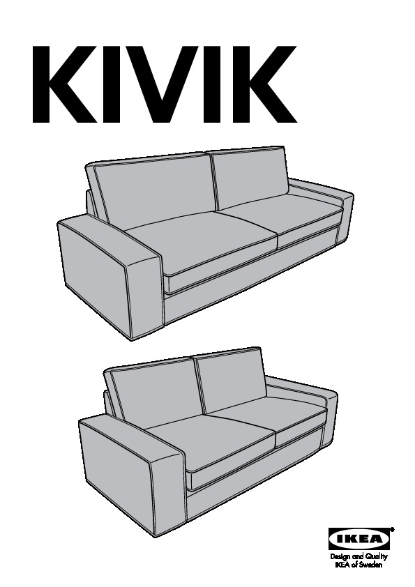 Kivik Sofa Cover Hillared Anthracite Ikea United States Ikeapedia