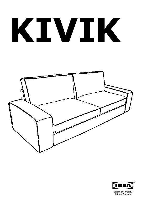 kivik three seat sofa bed ten black ikea united kingdom. Black Bedroom Furniture Sets. Home Design Ideas