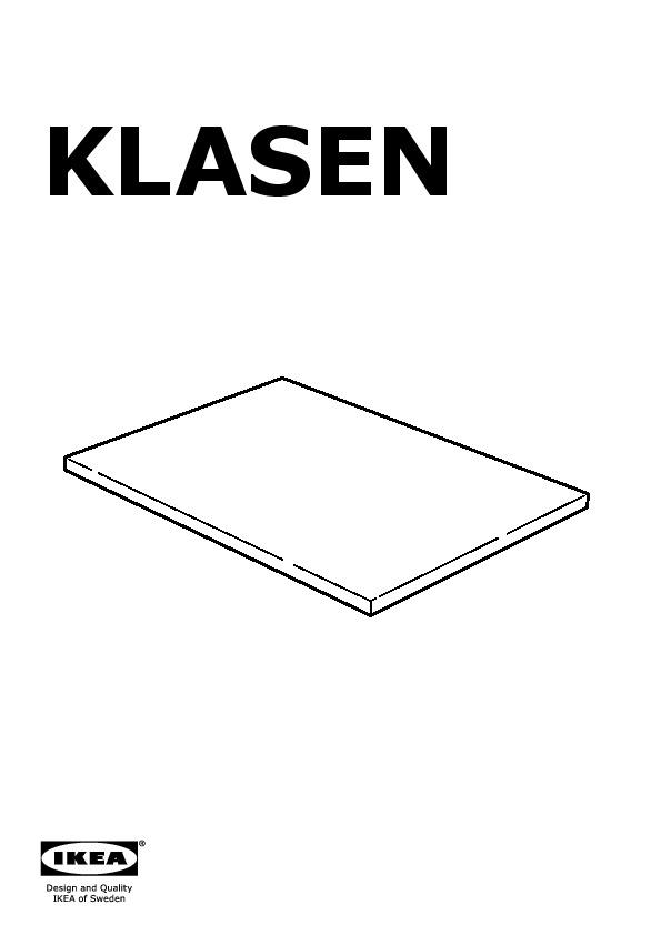 KLASEN tablette à poser sur structure