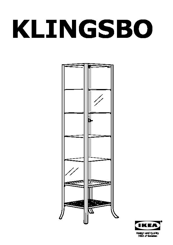 KLINGSBO Glass-door cabinet black, clear glass (IKEA Canada ...