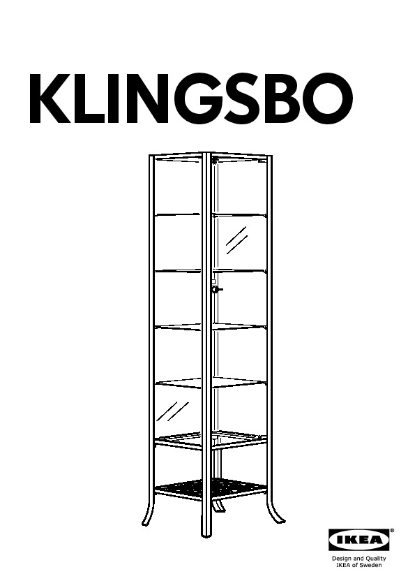 klingsbo vitrine noir verre clair ikea france ikeapedia. Black Bedroom Furniture Sets. Home Design Ideas