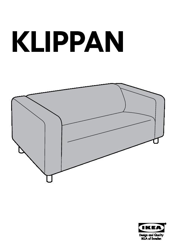 Klippan divano a 2 posti vissle rosso arancione ikea - Divano ikea klippan ...