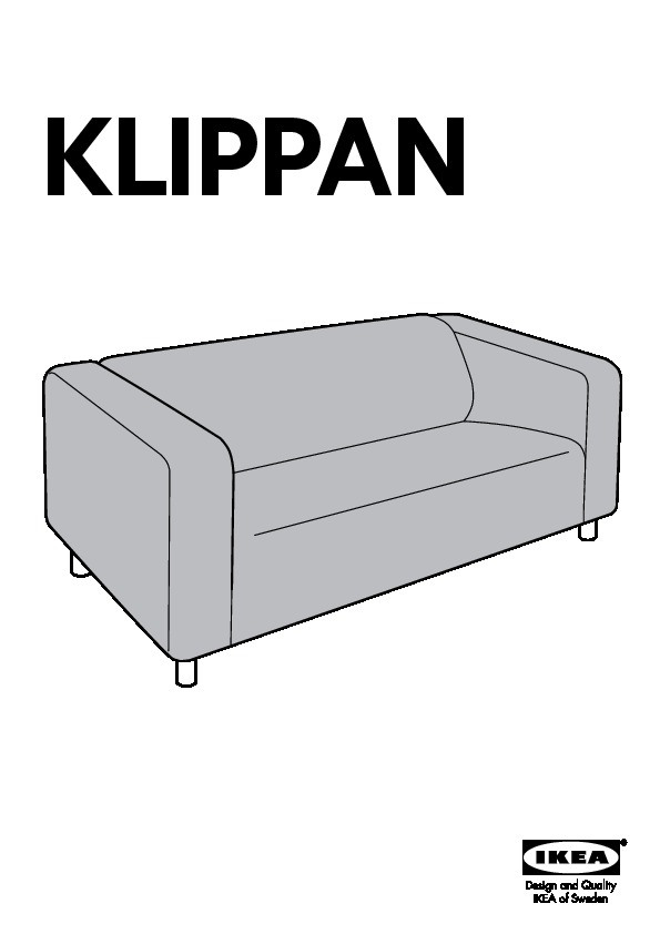 klippan housse de canap 2pla leaby jaune ikea france ikeapedia. Black Bedroom Furniture Sets. Home Design Ideas