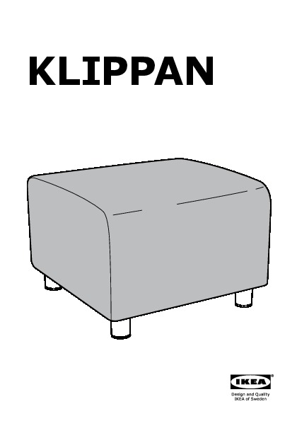 Klippan pouf blomsterm la multicolore ikea france for Housse klippan