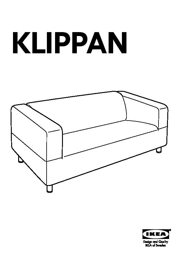 klippan structure canap 2 places ikea france ikeapedia. Black Bedroom Furniture Sets. Home Design Ideas