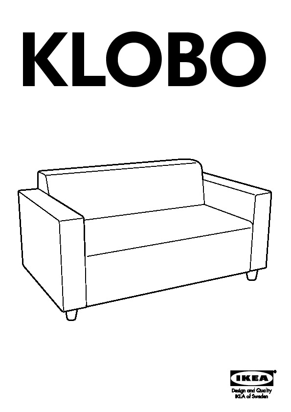 klobo canap 2 places lussebo cru ikea france ikeapedia. Black Bedroom Furniture Sets. Home Design Ideas