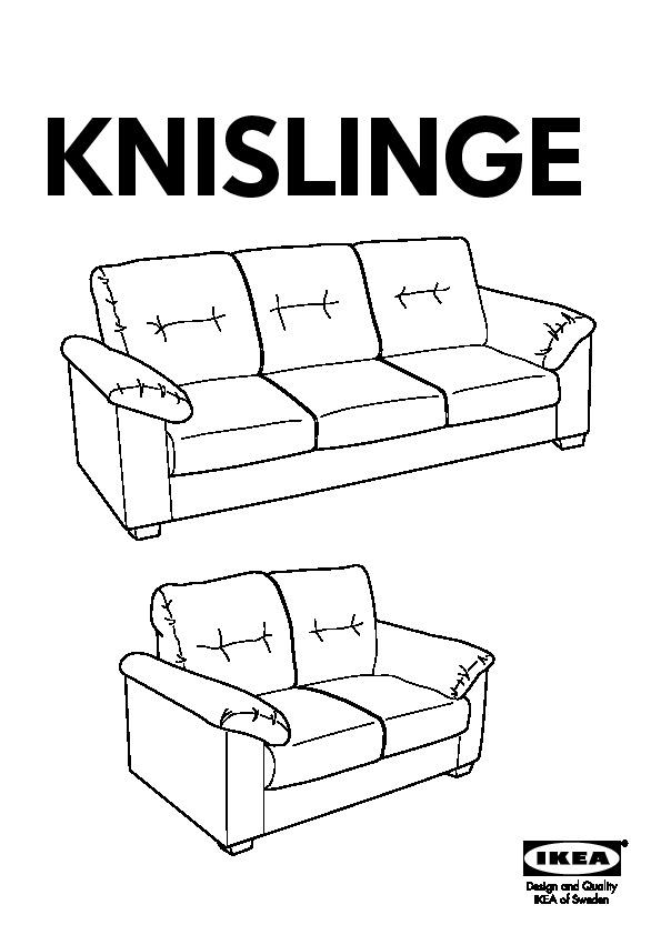 Fine Knislinge Sofa Idhult Black Ikea United States Ikeapedia Download Free Architecture Designs Scobabritishbridgeorg