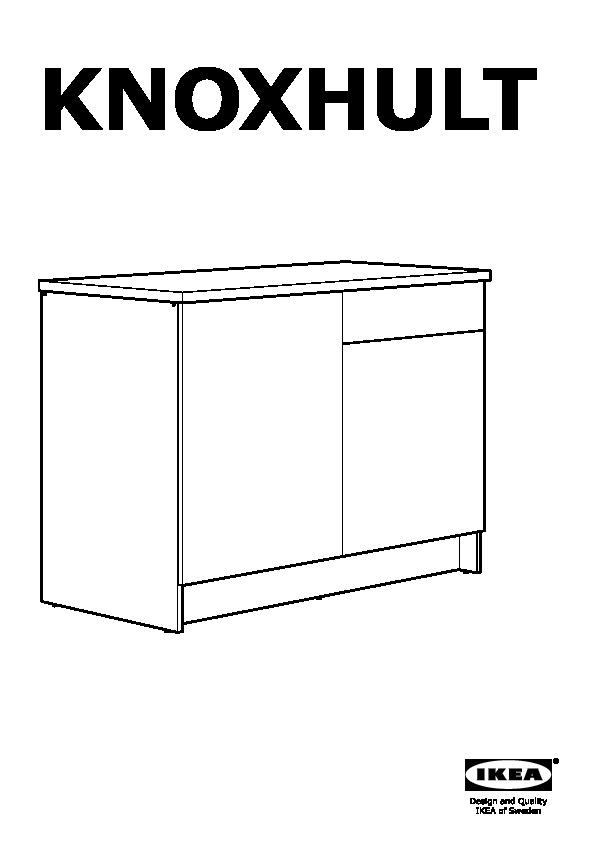 knoxhult mobile base con ante e cassetto effetto legno grigio ikea italy ikeapedia. Black Bedroom Furniture Sets. Home Design Ideas