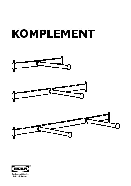 komplement pullout clothes rail with rail luminaire ikea. Black Bedroom Furniture Sets. Home Design Ideas