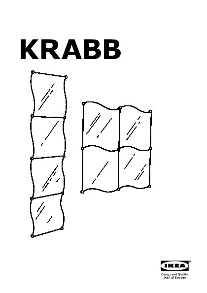 Ikea mirror instructions krabb for Miroir a coller ikea