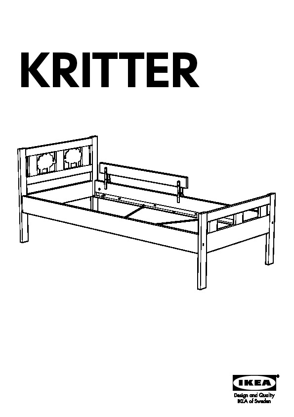 Kritter bed frame with slatted bed base white ikea canada for Lit junior ikea