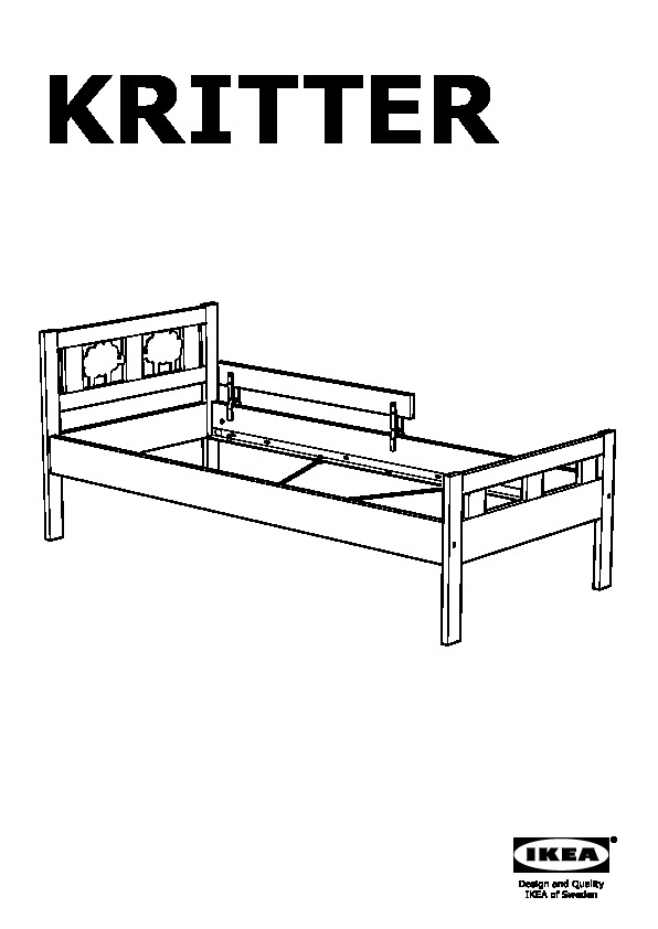 kritter bed frame and guard rail junior ikea united states ikeapedia. Black Bedroom Furniture Sets. Home Design Ideas