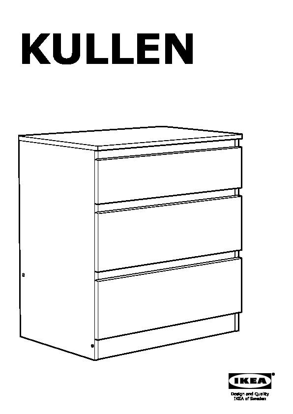 Cassettiera Ikea 3 Cassetti.Kullen Cassettiera Con 3 Cassetti Bianco Ikea Italy Ikeapedia