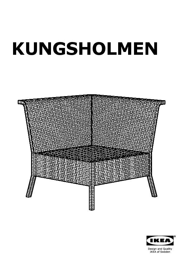 KUNGSHOLMEN corner section, outdoor