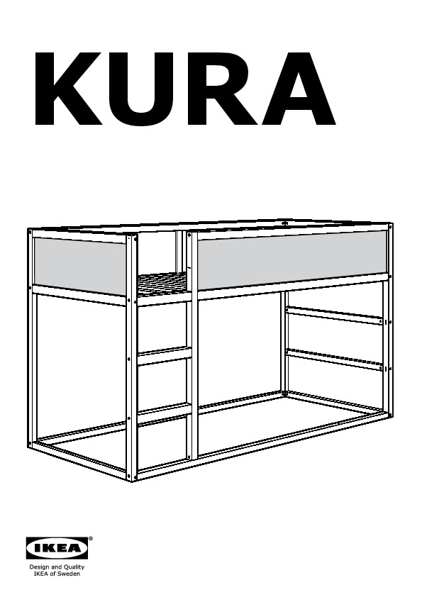 kura reversible bed dark blue pine ikea united states ikeapedia. Black Bedroom Furniture Sets. Home Design Ideas