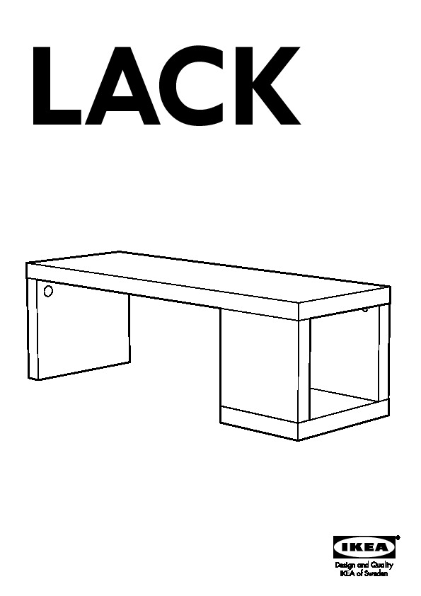 Lack table basse brillant blanc ikea france ikeapedia for Table basse lack blanche
