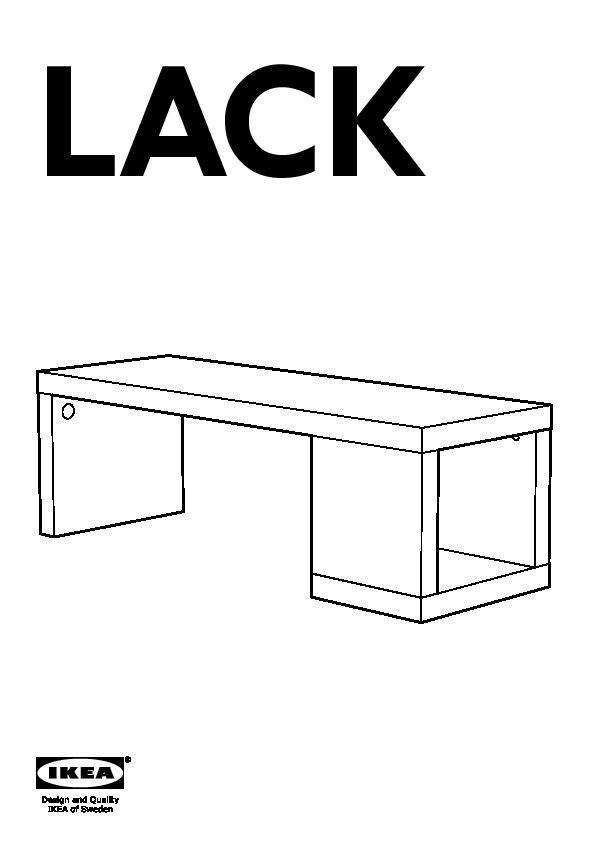 Lack Table Basse Brillant Blanc (Ikea France) - Ikeapedia