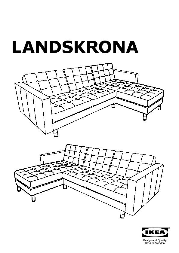 Landskrona two seat sofa and chaise longue grann bomstad for Chaise longue frame