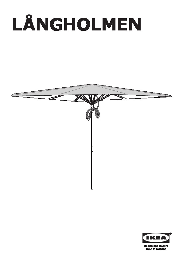 l ngholmen l k parasol avec pied brun beige gris ikea france ikeapedia. Black Bedroom Furniture Sets. Home Design Ideas